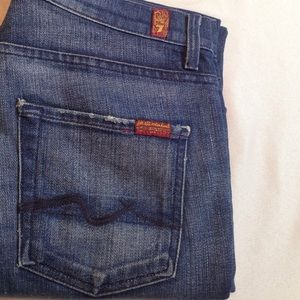 7 FOR ALL MANKIND HIGH WAIST BOOTCUT JEANS STRETCH